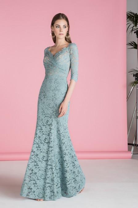 STYLE 12582 : LACE WRAP DRESS