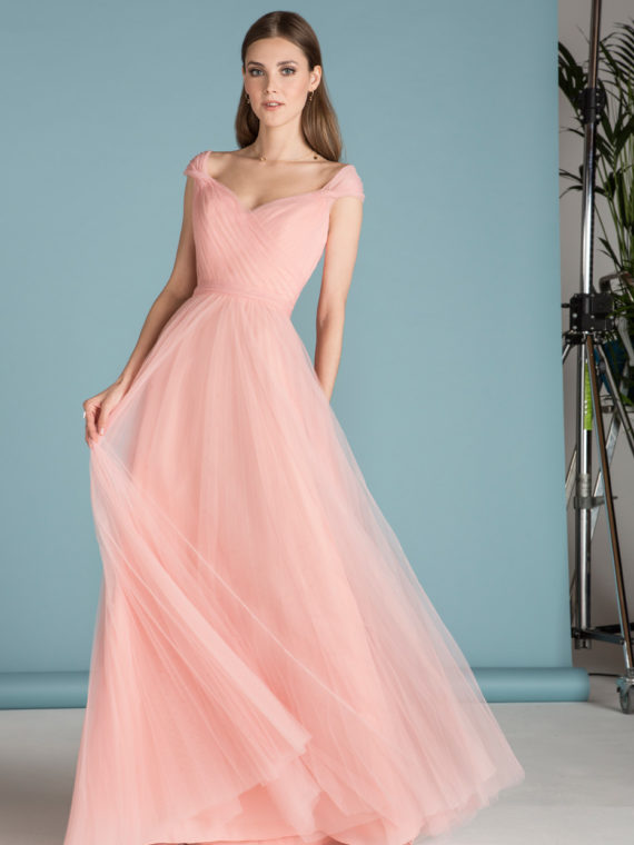 STYLE 18647 : SOFT TULLE GOWN