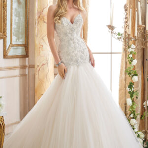 Crystallized Embroidery on Tulle Morilee Wedding Dress